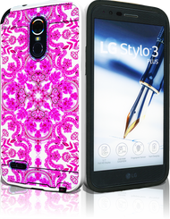 LG Stylo 3 MM Slim Dura Metal Tribal Pink