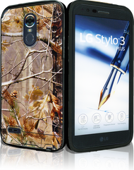 LG Stylo 3 MM Slim Dura Metal Brown Camo&Black