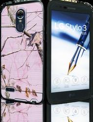 LG Stylo 3 MM Slim Dura Metal Pink Camo&Black