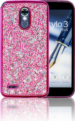 LG Stylo 3 MM Candy Bling Case Hot Pink