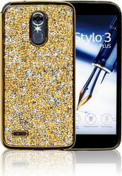 LG Stylo 3 MM Candy Bling Case Gold