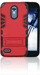LG Stylo 3 MM Slim Dura With Kickstand Red