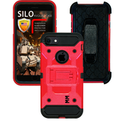 Iphone 7/6/6S MM Silo Rugged Case Red(Tempered Glass Included)
