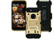 Iphone 7/6/6S MM Silo Rugged Case Gold(Tempered Glass Included)