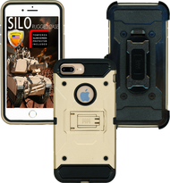 Iphone  8 PLUS/7 PLUS/6 PLUS/6S Plus MM Silo Rugged Case Gold(Tempered Glass Included)