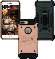 Iphone 8 PLUS/7 PLUS/6 PLUS/6S Plus MM Silo Rugged Case Rose Gold(Tempered Glass Included)