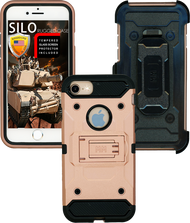 Iphone 7/6/6S MM Silo Rugged Case Rose Gold(Tempered Glass Included)