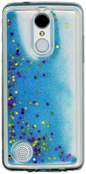 LG Aristo MM Water Glitter With Stars Blue
