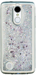 LG Aristo MM Water Glitter With Stars Silver