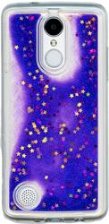 LG Aristo MM Water Glitter With Stars Purple
