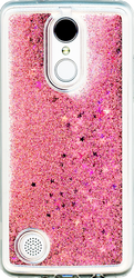 LG Aristo  MM Water Glitter With Stars Rose Gold