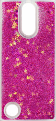 LG Aristo MM Water Glitter With Stars Pink