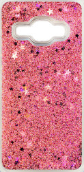 Samsung Galaxy J1(2016)  Water Glitter With Stars Rose Gold