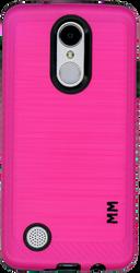 LG Aristo MM  Carbon Fiber Metal Hot Pink