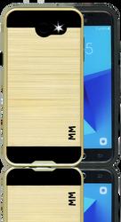 Samsung Galaxy J3 Emerge Slim Dura Metal Finish Gold