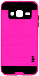 Samsung Galaxy J3 MM Slim Dura Metal Finish Hot Pink