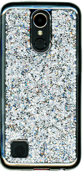 LG K20 PLUS  MM Candy Bling Case Silver