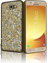 Samsung J7 (2017)  MM Candy Bling Case Gold