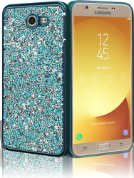 Samsung J7 (2017)  MM Candy Bling Case Teal