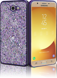 Samsung J7 (2017)  MM Candy Bling Case Purple