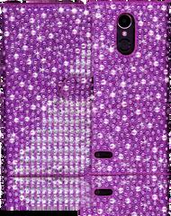 LG K20 PLUS  MM Jewel Diagonal Wallet Purple