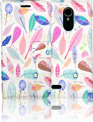LG K20 PLUS   MM 3D Design Wallet Spring Flowers