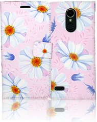 LG K20 PLUS   MM 3D Design Wallet Pink Flowers