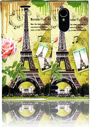 LG K20 PLUS   MM 3D Design Wallet Paris Flowers