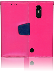 LG K20 PLUS   MM Executive Wallet Hot Pink