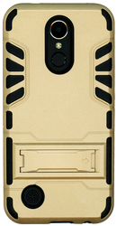 LG K20 PLUS   MM Slim Dura With Kickstand Gold
