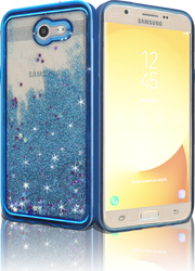 Samsung Galaxy J7(2017) MM Electroplated Glitter Case With Stars Blue