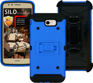 Samsung Galaxy J7(2017) MM Silo Rugged Case Blue(Tempered Glass Included)