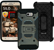 Samsung Galaxy J7(2017) MM Silo Rugged Case Grey(Tempered Glass Included)