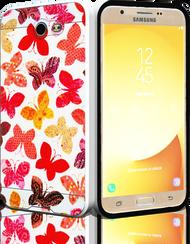 Samsung Galaxy J7(2017) MM Slim Dura Metal Rainbow Butterfly