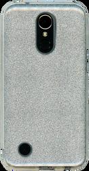 LG K20 PLUS MM Glitter Hybrid Silver