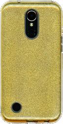 LG K20 PLUS MM Glitter Hybrid Gold