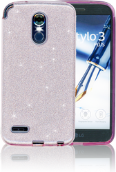 LG Stylo 3 MM Glitter Hybrid Rose Gold