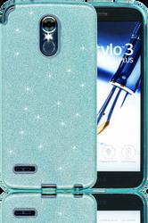 LG Stylo 3 MM Glitter Hybrid Teal
