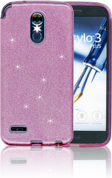 LG Stylo 3 MM Glitter Hybrid Purple