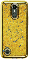 LG K20 PLUS MM Electroplated Water Glitter With Stars Gold