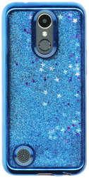LG K20 PLUS MM Electroplated Water Glitter With Stars Blue