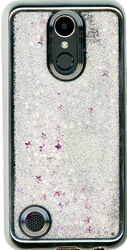 LG K20 PLUS MM Electroplated Water Glitter With Stars Silver