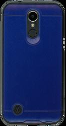 LG K20 PLUS  MM Design Carbon Fiber Metal Blue