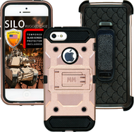 Iphone 5/5S/5SE MM Silo Rugged Case Rose Gold(Tempered Glass Included)