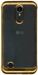 LG K20 PLUS MM Electroplated Carbon Fiber Candy Case Gold