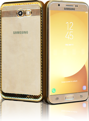 Samsung Galaxy J7(2017) MM Electroplated Carbon Fiber Candy Case Gold