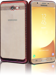 Samsung Galaxy J7(2017) MM Electroplated Carbon Fiber Candy Case Rose Gold