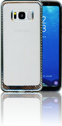 Samsung Galaxy S8 MM Electroplated Carbon Fiber Candy Case Silver