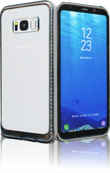 Samsung Galaxy S8 PLUS MM Electroplated Carbon Fiber Candy Case Silver