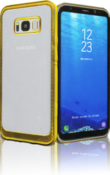 Samsung Galaxy S8 PLUS MM Electroplated Carbon Fiber Candy Case Gold